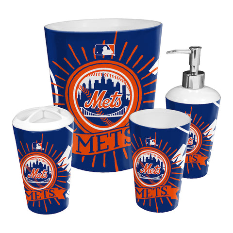 New York Mets bathroom accessory set
