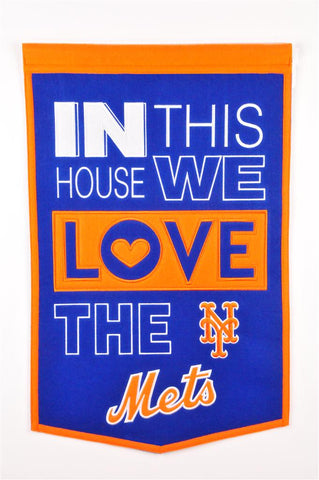 MLB New York Mets HOME Hanging Wool Banner - Bed, Bath, And My Team