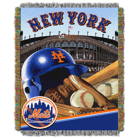 MLB New York Mets HOME FIELD ADVANTAGE Tapestry - Bed, Bath, And My Team