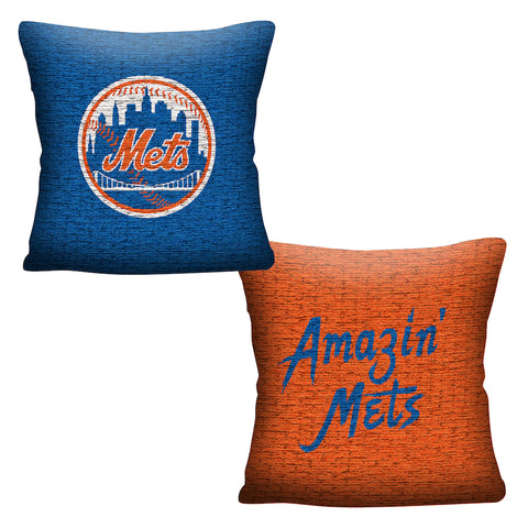 MLB New York Mets INVERT Throw Pillow - Bed, Bath, And My Team