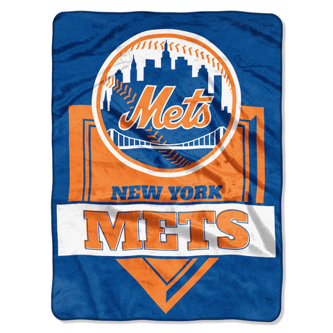 MLB New York Mets 60 x 80 Large Plush Raschel Throw Blanket - Bed, Bath, And My Team