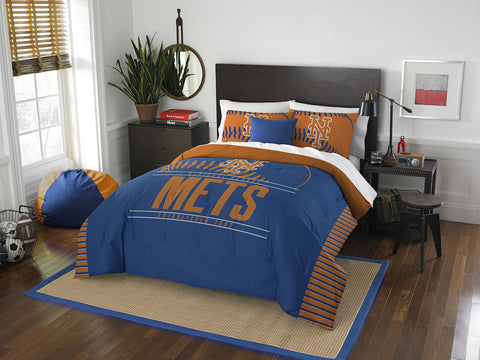 MLB New York Mets Queen/Full Comforter and Sham Set - Bed, Bath, And My Team