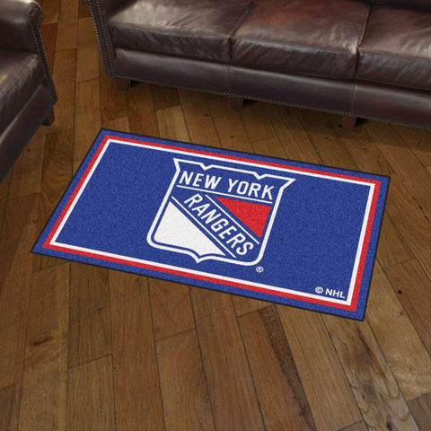 NHL New York Rangers 3 X 5 Ft. Plush Area Rug - Bed, Bath, And My Team