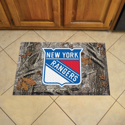 NHL New York Rangers Scraper CAMO Doormat - Bed, Bath, And My Team