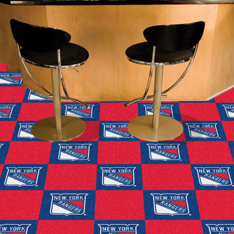 NHL New York Rangers Carpet Tiles - Bed, Bath, And My Team