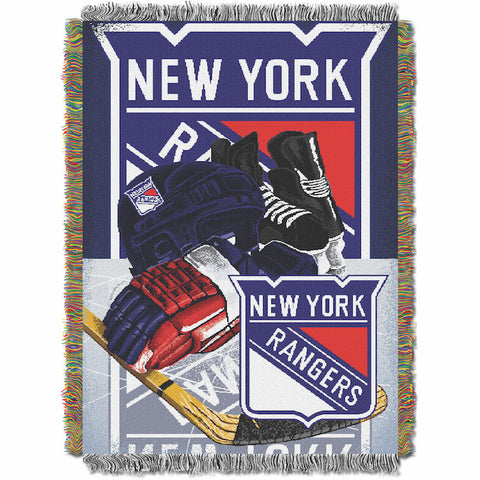 NHL New York Rangers HOME ICE ADVANTAGE Tapestry - Bed, Bath, And My Team