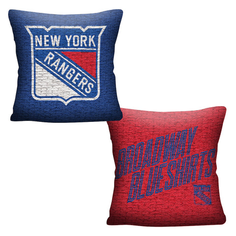 NHL New York Rangers INVERT Throw Pillow - Bed, Bath, And My Team