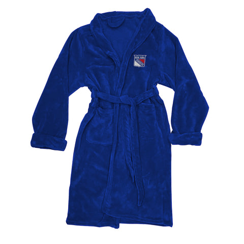 NHL New York Rangers Silk Touch Mens Bath Robe (LG/XL) - Bed, Bath, And My Team
