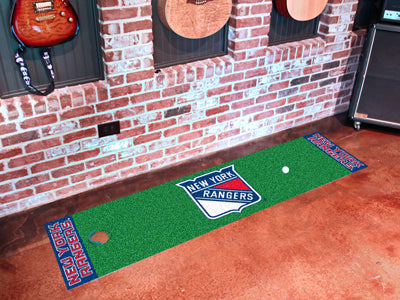 NHL New York Rangers Putting Green Mat - Bed, Bath, And My Team