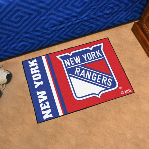 NHL New York Rangers Uniform Inspired STARTER Rug - Bed, Bath, And My Team