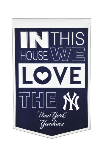 MLB New York Yankees HOME Hanging Wool Banner - Bed, Bath, And My Team