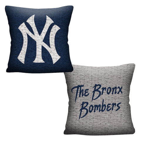 MLB New York Yankees INVERT Throw Pillow - Bed, Bath, And My Team