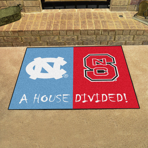 North Carolina Tar Heels NC State Wolfpack Rivalry Rug