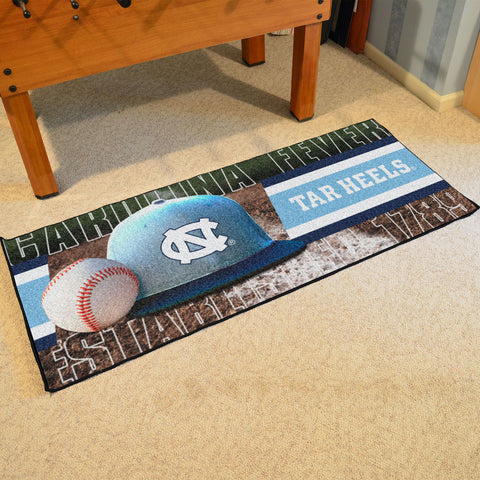 NCAA North Carolina Tar Heels Baseball Logo Carpet Runner Rug - Bed, Bath, And My Team