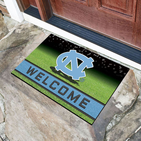 NCAA North Carolina Tar Heels Recycled Rubber CRUMB Doormat - Bed, Bath, And My Team