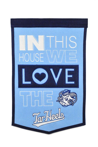 NCAA North Carolina Tar Heels HOME Hanging Wool Banner - Bed, Bath, And My Team