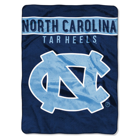 NCAA North Carolina Tar Heels 60 x 80 Large Plush Raschel Throw Blanket - Bed, Bath, And My Team