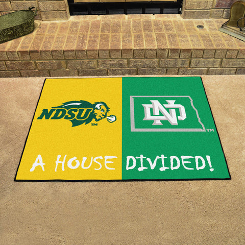 North Dakota State Bison North Dakota Fighting Hawks Rivalry Rug