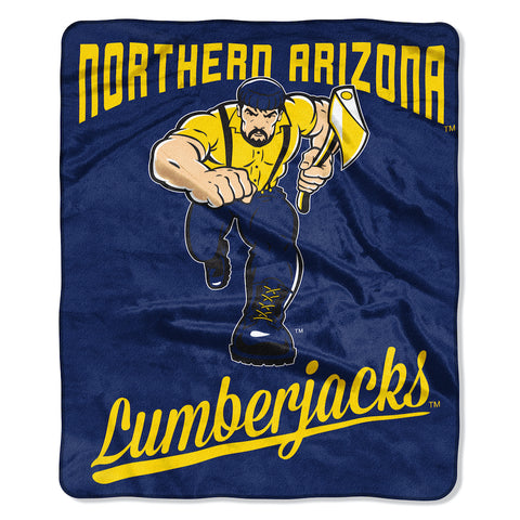 NCAA Northern Arizona Lumberjacks 50 x 60 Alumni Raschel Throw Blanket - Bed, Bath, And My Team