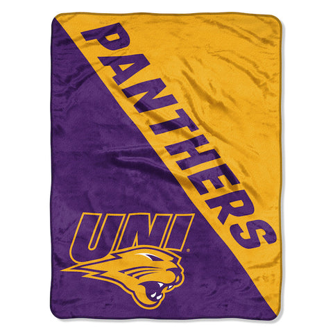 NCAA Northern Iowa Panthers Micro Raschel Throw - Bed, Bath, And My Team