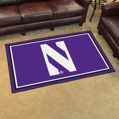 NCAA Northwestern Wildcats 4 X 6 Ft. Area Rug - Bed, Bath, And My Team