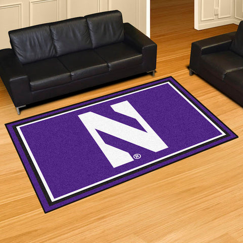 NCAA Northwestern Wildcats 5 X 8 Ft. Area Rug - Bed, Bath, And My Team