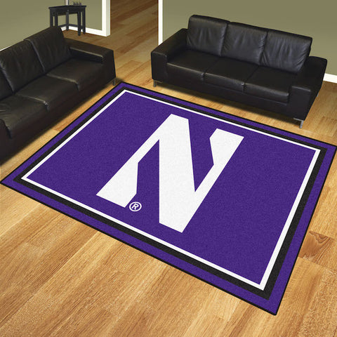 NCAA Northwestern Wildcats 8 X 10 Ft. Area Rug - Bed, Bath, And My Team