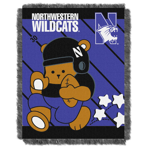 NCAA Northwestern Wildcats Baby Blanket - Bed, Bath, And My Team