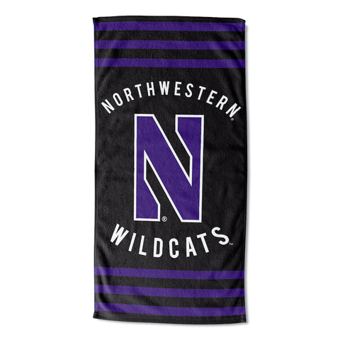 NCAA Northwestern Wildcats Beach Towel - Bed, Bath, And My Team
