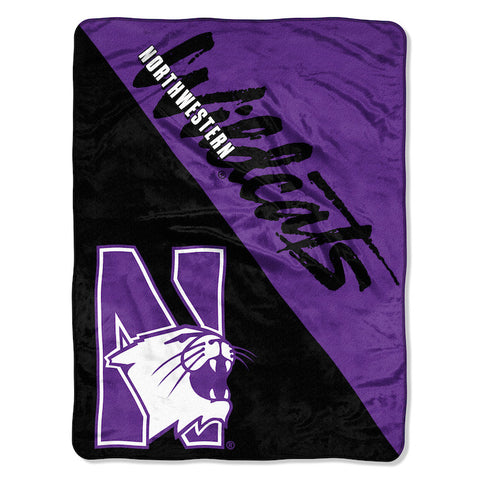 NCAA Northwestern Wildcats Micro Raschel Throw - Bed, Bath, And My Team