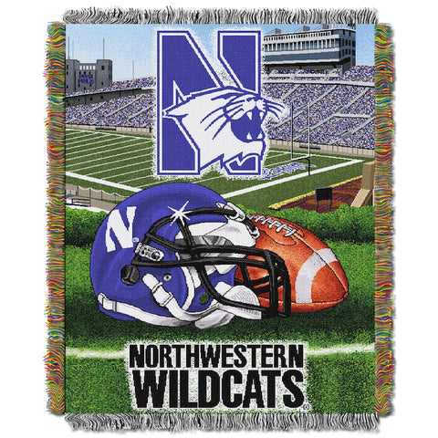 NCAA Northwestern Wildcats HOME FIELD ADVANTAGE Tapestry - Bed, Bath, And My Team
