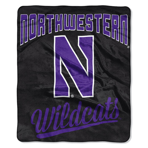 NCAA Northwestern Wildcats 50 x 60 Alumni Raschel Throw Blanket - Bed, Bath, And My Team