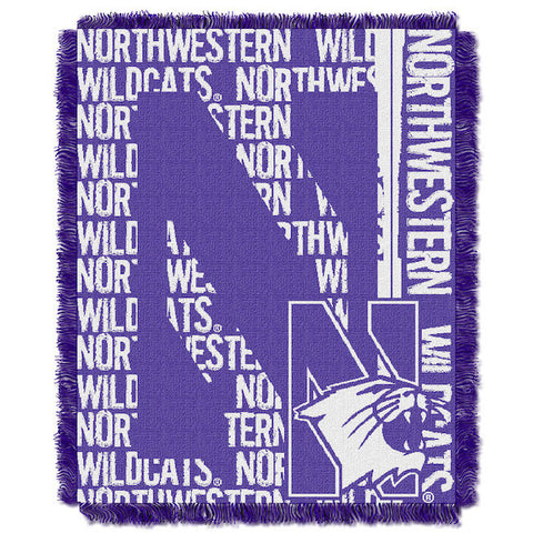 NCAA Northwestern Wildcats Woven Decorative Tapestry - Bed, Bath, And My Team