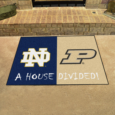 Notre Dame Fighting Irish Purdue Boilermakers Rivalry Rug