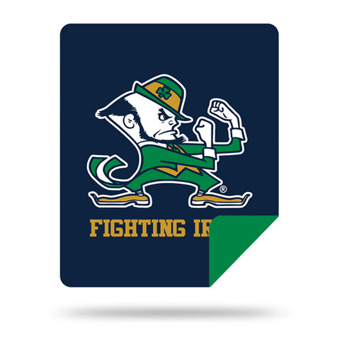 NCAA Notre Dame Fighting Irish 60 x 72 DENALI Silver Knit Throw Blanket - Bed, Bath, And My Team