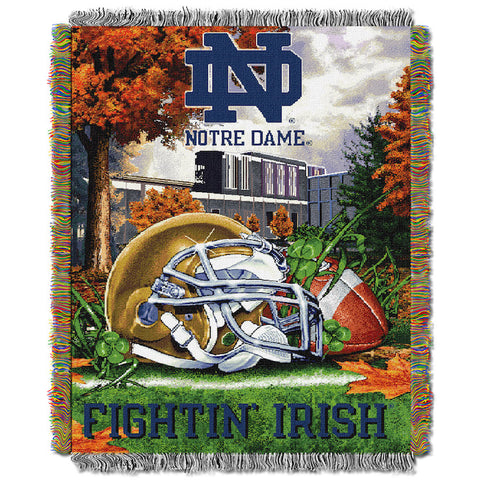 NCAA Notre Dame Fighting Irish HOME FIELD ADVANTAGE Tapestry - Bed, Bath, And My Team