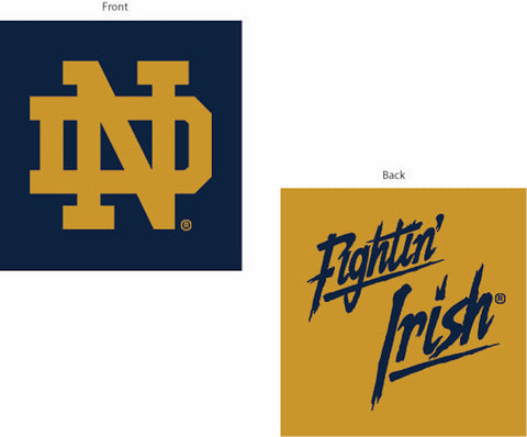 NCAA Notre Dame Fighting Irish INVERT Throw Pillow - Bed, Bath, And My Team