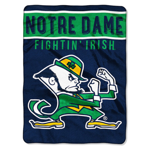 NCAA Notre Dame Fighting Irish 60 x 80 Large Plush Raschel Throw Blanket - Bed, Bath, And My Team