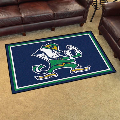 NCAA Notre Dame Fighting Irish LOGO 4 X 6 Ft. Area Rug - Bed, Bath, And My Team