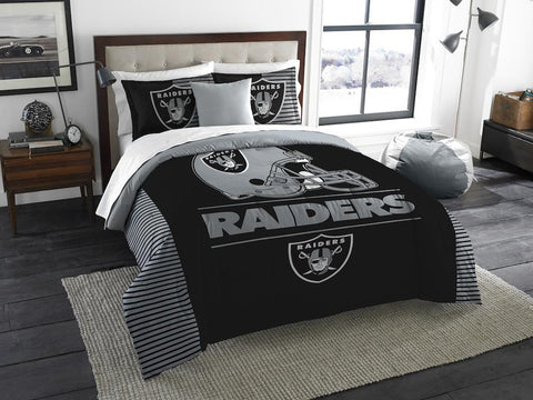 NFL Las Vegas Raiders KING Comforter and Sham Set - Bed, Bath, And My Team