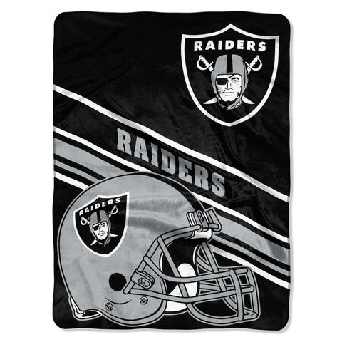 NFL Las Vegas Raiders 60 x 80 Large Plush Raschel Throw Blanket - Bed, Bath, And My Team