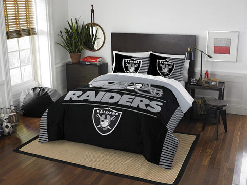 NFL Las Vegas Raiders Queen/Full Comforter and Sham Set - Bed, Bath, And My Team