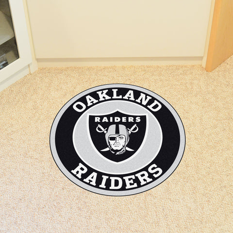 NFL Oakland Raiders Roundel Mat - Bed, Bath, And My Team