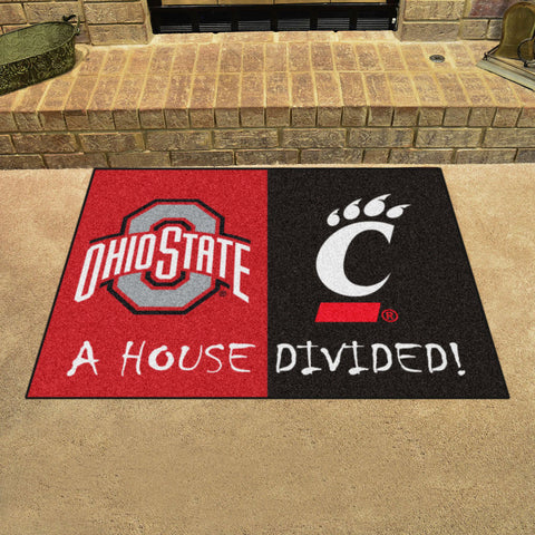 Ohio State Buckeyes Cincinnati Bearcats Rivalry Rug