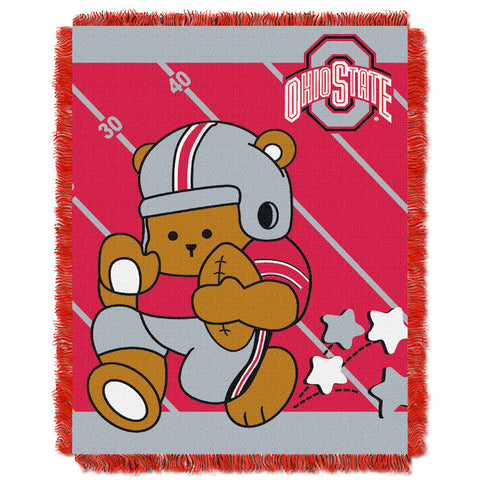 NCAA Ohio State Buckeyes Baby Blanket - Bed, Bath, And My Team