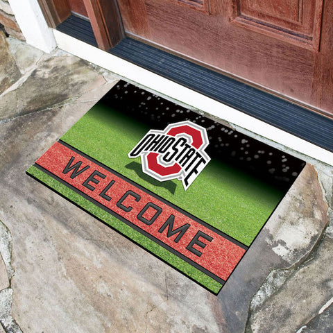 NCAA Ohio State Buckeyes Recycled Rubber CRUMB Doormat - Bed, Bath, And My Team