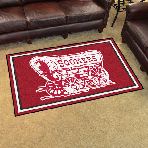NCAA Oklahoma Sooners ALT LOGO 4 X 6 Ft. Area Rug - Bed, Bath, And My Team