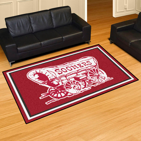 NCAA Oklahoma Sooners ALT LOGO 5 X 8 Ft. Area Rug - Bed, Bath, And My Team