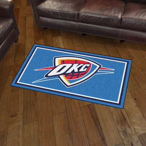 NBA Oklahoma City Thunder 3 X 5 Ft. Plush Area Rug - Bed, Bath, And My Team