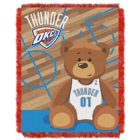 NBA Oklahoma City Thunder Baby Blanket - Bed, Bath, And My Team